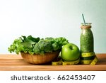 the healthy fresh  green... | Shutterstock . vector #662453407