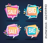 super sale  vector collection... | Shutterstock .eps vector #662454943