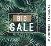 sale banner  poster with palm... | Shutterstock .eps vector #662460763