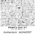 business doodles sketch vector... | Shutterstock .eps vector #662463907