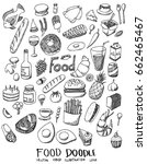 food doodle line vector set | Shutterstock .eps vector #662465467