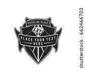 vector vintage black shield... | Shutterstock .eps vector #662466703