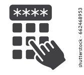 hand finger entering pin code... | Shutterstock .eps vector #662468953