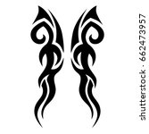 tribal tattoo art designs.... | Shutterstock .eps vector #662473957