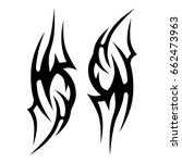 tribal tattoo art designs.... | Shutterstock .eps vector #662473963