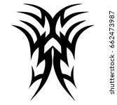 tattoo tribal vector design.... | Shutterstock .eps vector #662473987