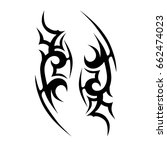 tattoo tribal vector design.... | Shutterstock .eps vector #662474023