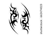 tribal tattoo art designs.... | Shutterstock .eps vector #662474023
