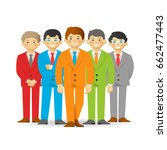business team  cheeky cartoon... | Shutterstock .eps vector #662477443