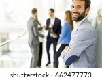 portrait of handsome young... | Shutterstock . vector #662477773