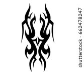 tattoo tribal vector design.... | Shutterstock .eps vector #662478247
