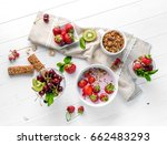 fitness foods with granola and... | Shutterstock . vector #662483293
