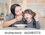 happy family of asian mom... | Shutterstock . vector #662485273