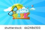 summer sale abstract vector... | Shutterstock .eps vector #662486503