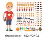 cartoon boy character. vector... | Shutterstock .eps vector #662493493