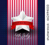 fourth of july independence day ... | Shutterstock .eps vector #662494033