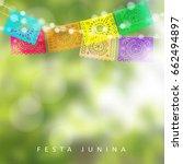 brazilian festa junina or... | Shutterstock .eps vector #662494897