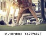 blured image of female fitness...   Shutterstock . vector #662496817