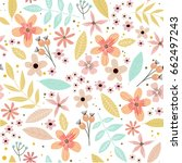 cute floral pattern in the... | Shutterstock .eps vector #662497243