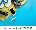 beach summer vacation travel... | Shutterstock . vector #662500387