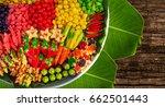 """kanom look choup"" is thai...   Shutterstock . vector #662501443"