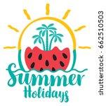 vector calligraphic green... | Shutterstock .eps vector #662510503