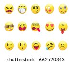 several emoticons set for design | Shutterstock .eps vector #662520343