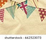 vintage colourful bunting over... | Shutterstock .eps vector #662523073