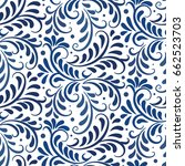 vector ornament seamless... | Shutterstock .eps vector #662523703