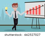 successful businessman with... | Shutterstock .eps vector #662527027