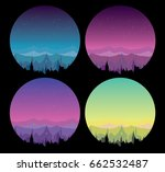 vector collection of night... | Shutterstock .eps vector #662532487