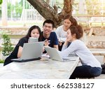 group of asian students  asian... | Shutterstock . vector #662538127
