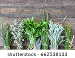 fresh herbs and spices on the... | Shutterstock . vector #662538133