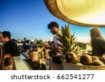 blurred barman working in... | Shutterstock . vector #662541277