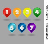 colored drops tags vector... | Shutterstock .eps vector #662548507
