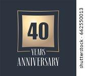 40 years anniversary... | Shutterstock .eps vector #662550013