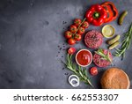 ingredients for making... | Shutterstock . vector #662553307