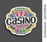 vector logo for casino ... | Shutterstock .eps vector #662558533