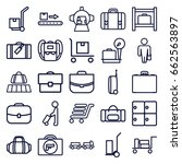 luggage icons set. set of 25... | Shutterstock .eps vector #662563897
