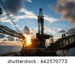derrick of tender assisted... | Shutterstock . vector #662570773