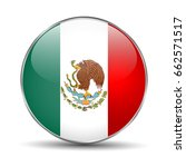 flag of mexico. mexican round... | Shutterstock .eps vector #662571517