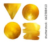 gold foil watercolor texture... | Shutterstock . vector #662588413