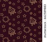 space  shuttle  star  planet ... | Shutterstock .eps vector #662589883