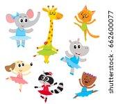 cute little animal characters ...   Shutterstock .eps vector #662600077