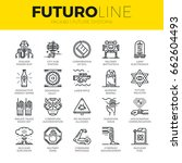 unique thin line icons set of... | Shutterstock .eps vector #662604493