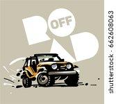 off road car emblem.  sketch...   Shutterstock .eps vector #662608063