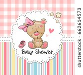 baby shower greeting card with... | Shutterstock . vector #662614573
