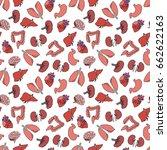 human organs seamless doodle... | Shutterstock .eps vector #662622163