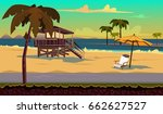 cartoon flat seamless landscape ... | Shutterstock .eps vector #662627527