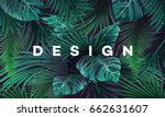 bright tropical background with ... | Shutterstock .eps vector #662631607